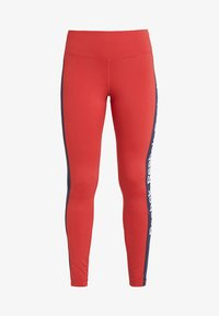 Reebok - TRAINING ESSENTIALS LINEAR LOGO LEGGING - Medias - red - 4