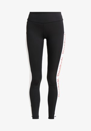 TRAINING ESSENTIALS LINEAR LOGO LEGGING - Punčochy - black