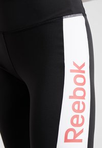 Reebok - TRAINING ESSENTIALS LINEAR LOGO LEGGING - Collant - black - 5