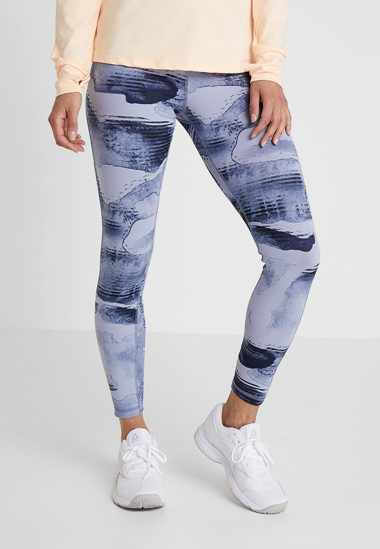 Reebok - LUX BOLD HIGH RISE - Legging - blue