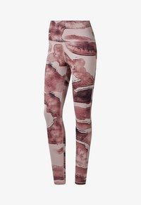 Reebok - YOGA LUX BOLD HIGH-RISE TIGHTS - Leggings - pink - 0