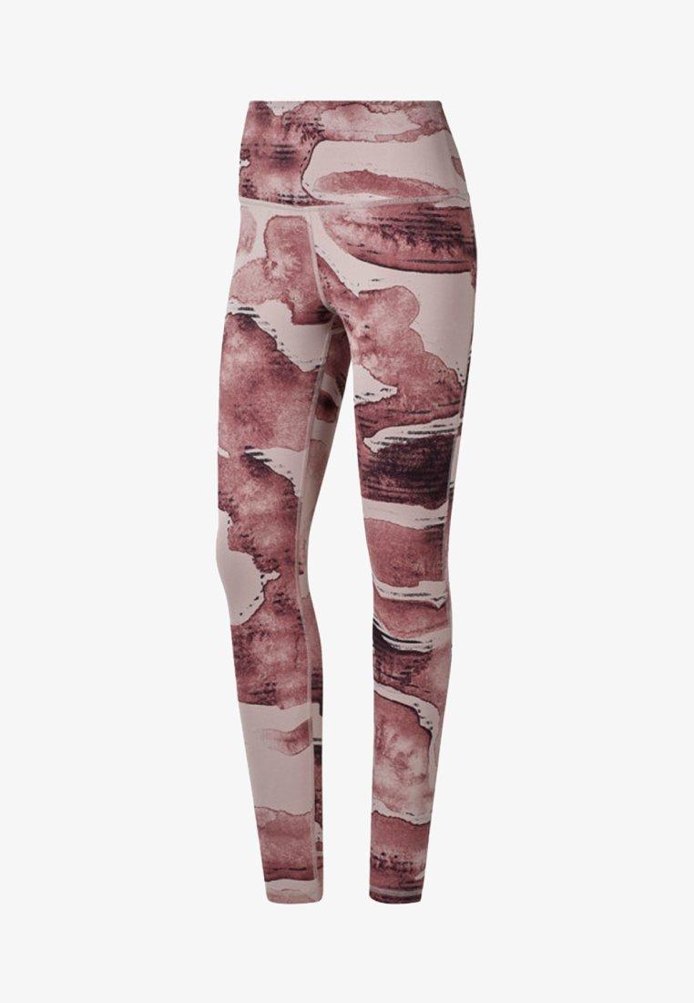Reebok - YOGA LUX BOLD HIGH-RISE TIGHTS - Leggings - pink