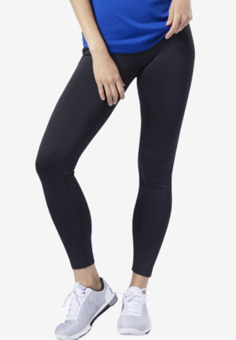 Reebok - WORKOUT READY HIGH-RISE TIGHTS - Tights - black