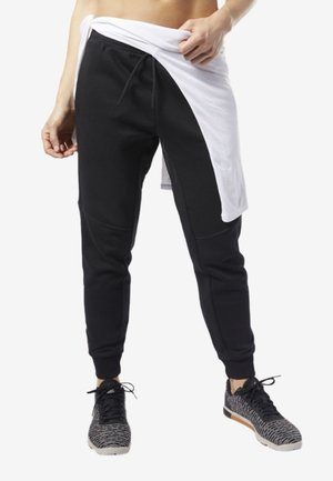 TRAINING ESSENTIALS LINEAR LOGO PANTS - Træningsbukser - black