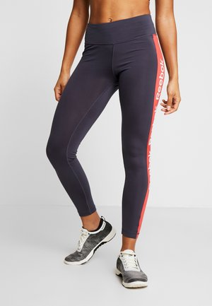 ELEMENTS TRAINING LEGGINGS - Punčochy - navy