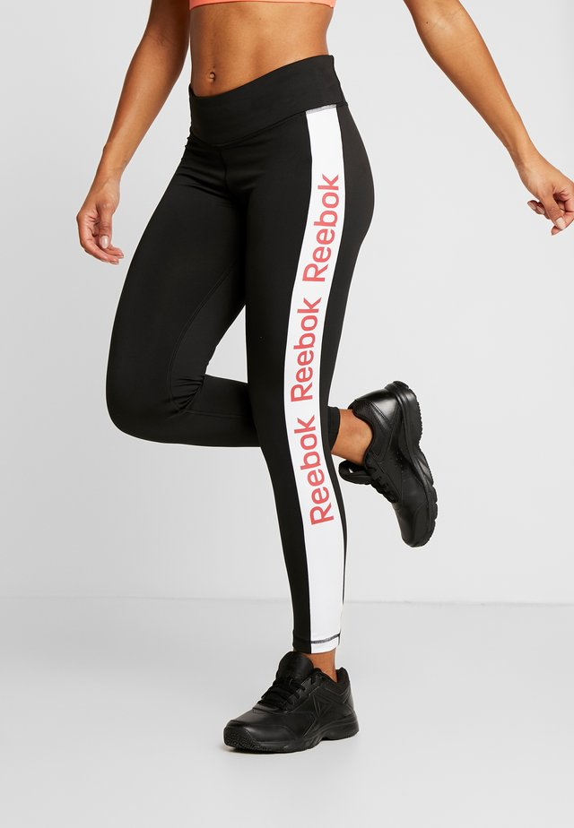 ELEMENTS TRAINING LEGGINGS - Punčochy - black/white