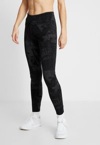 Reebok - LUX TRAINING MIXED MARTIAL ARTS LEGGINGS - Medias - black - 0