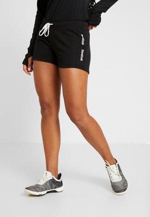 LINEAR LOGO SHORT - Sports shorts - black