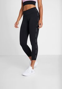 Reebok - LUX STUDIO STUDIO LEGGINGS - Legging - black - 0