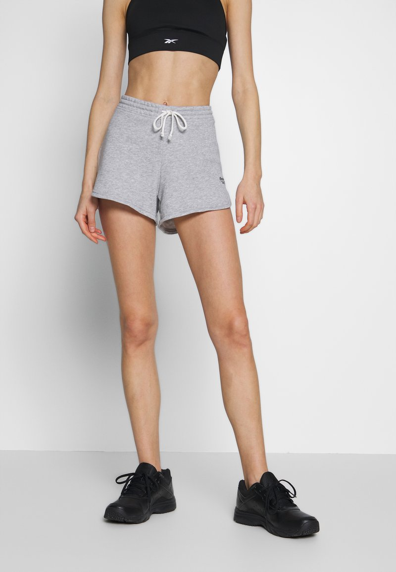 Reebok - FRENCH TERRY ELEMENTS SPORT SHORTS - Sports shorts - grey