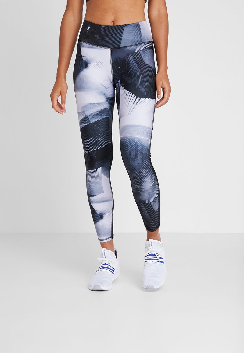 Reebok - ESSENTIALS RUNNING RECYCLED LEGGINGS - Medias - black