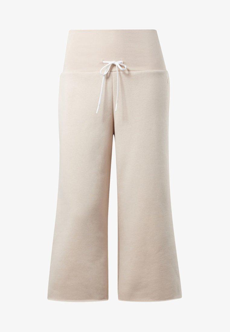 Reebok - STUDIO WIDE LEG PANTS - Trousers - buff