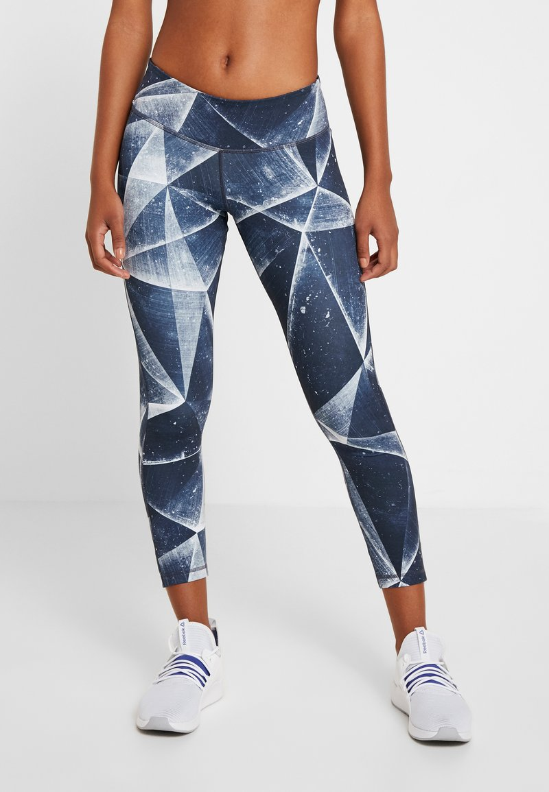 Reebok - LUX BOLD ICE - Leggings - heritage navy