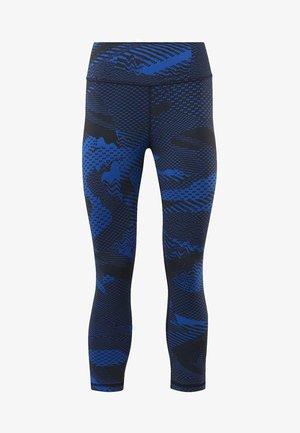 REEBOK LUX 3/4 TIGHTS 2.0 - GEO STATIC - 3/4 sports trousers -  blue