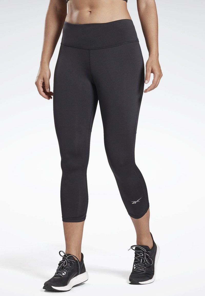 Reebok - RUNNING ESSENTIALS 3/4 TIGHTS - Leggings - black