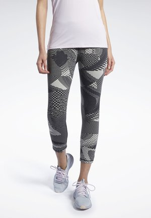 REEBOK LUX 3/4 TIGHTS 2.0 - GEO STATIC - Tights - beige