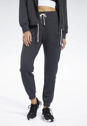 TRAINING ESSENTIALS LOGO PANTS - Pantaloni sportivi - black