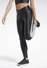 Reebok - STUDIO HIGH-RISE TIGHTS - Legging - black - 0