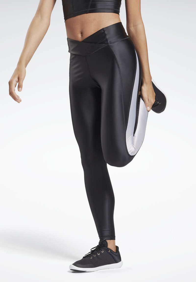 Reebok - STUDIO HIGH-RISE TIGHTS - Legging - black