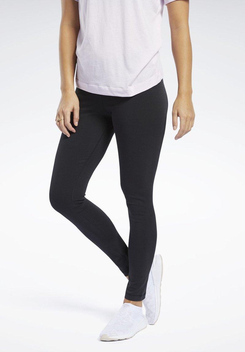 Reebok - TRAINING ESSENTIALS COTTON LEGGINGS - Legging - black