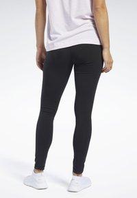 Reebok - TRAINING ESSENTIALS COTTON LEGGINGS - Legging - black - 2