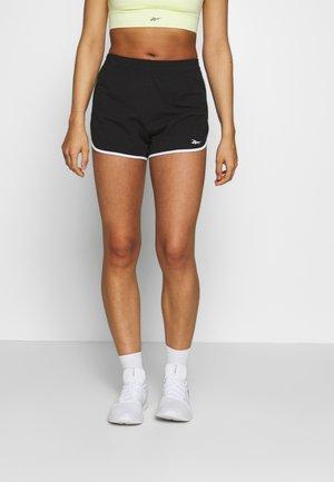 SLIT SHORT - Korte broeken - black