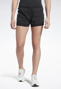 Reebok - RUNNING ESSENTIALS TWO-IN-ONE SHORTS - Shorts - black - 0
