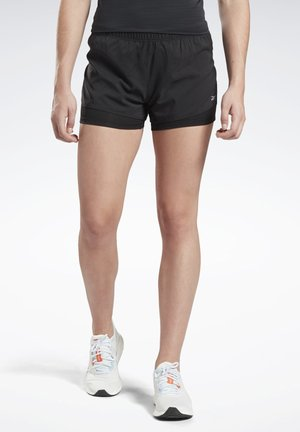RUNNING ESSENTIALS TWO-IN-ONE SHORTS - Shorts - black