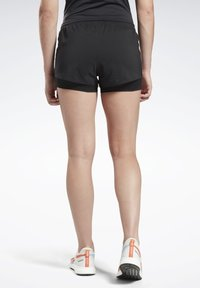 Reebok - RUNNING ESSENTIALS TWO-IN-ONE SHORTS - Shorts - black