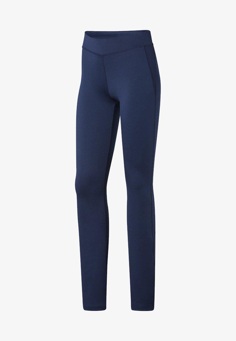 Reebok - WORKOUT READY BOOT CUT PANTS - Leggings - Trousers - blue