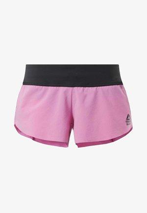 REEBOK KNIT WOVEN SHORTS - Urheilushortsit - posh pink