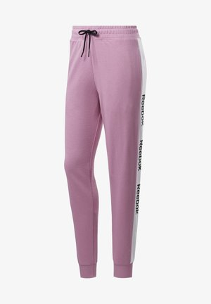 TRAINING ESSENTIALS LINEAR LOGO PANTS - Tracksuit bottoms - jasmine pink
