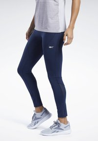 Reebok - UNITED BY FITNESS LUX PERFORM TIGHTS - Tights - blue - 0