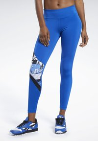 Reebok - MEET YOU THERE TIGHTS - Collants - humble blue - 0