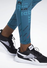Reebok - WORKOUT READY ALLOVER PRINT TIGHTS - Tights - heritage teal - 3
