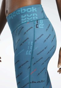 Reebok - WORKOUT READY ALLOVER PRINT TIGHTS - Tights - heritage teal - 4