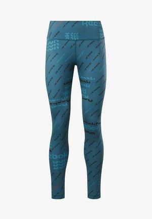 WORKOUT READY ALLOVER PRINT TIGHTS - Leggings - heritage teal