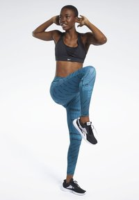 Reebok - WORKOUT READY ALLOVER PRINT TIGHTS - Tights - heritage teal - 1