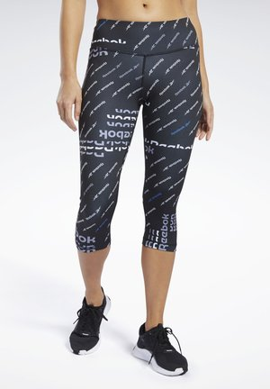 WORKOUT READY ALLOVER PRINT CAPRI TIGHTS - Pantalon 3/4 de sport - black