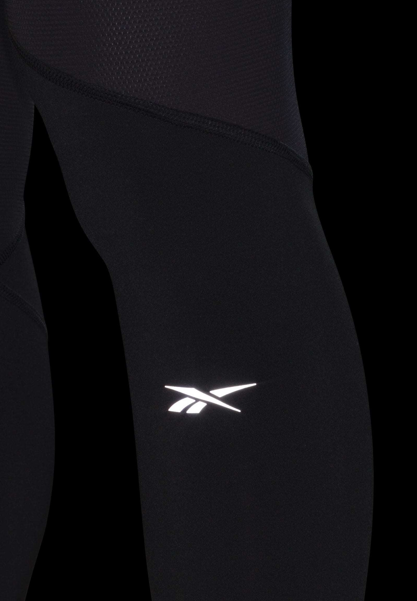 Reebok ONE SERIES RUNNING LOGO REFLECTIVE TIGHTS - Legginsy - black
