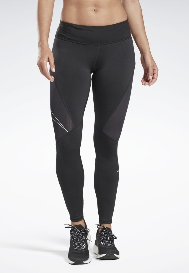 ONE SERIES RUNNING LOGO REFLECTIVE TIGHTS - Tights - black