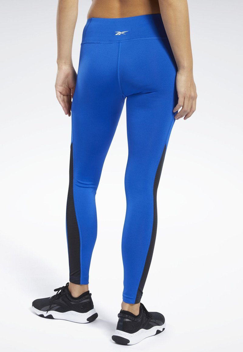 Reebok WORKOUT READY MESH TIGHTS - Tights - blue