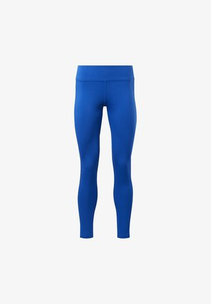 WORKOUT READY LOGO TIGHTS - Legginsy - blue