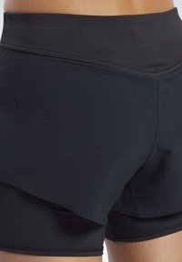 Reebok - EPIC TWO-IN-ONE SHORTS - Sports shorts - black - 6