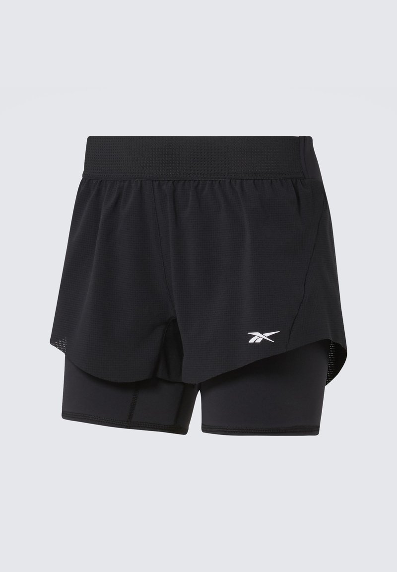 Reebok - EPIC TWO-IN-ONE SHORTS - Sports shorts - black