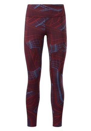LUX PERFORM TECHNICAL TWIST LEGGINGS - Leggings - burgundy
