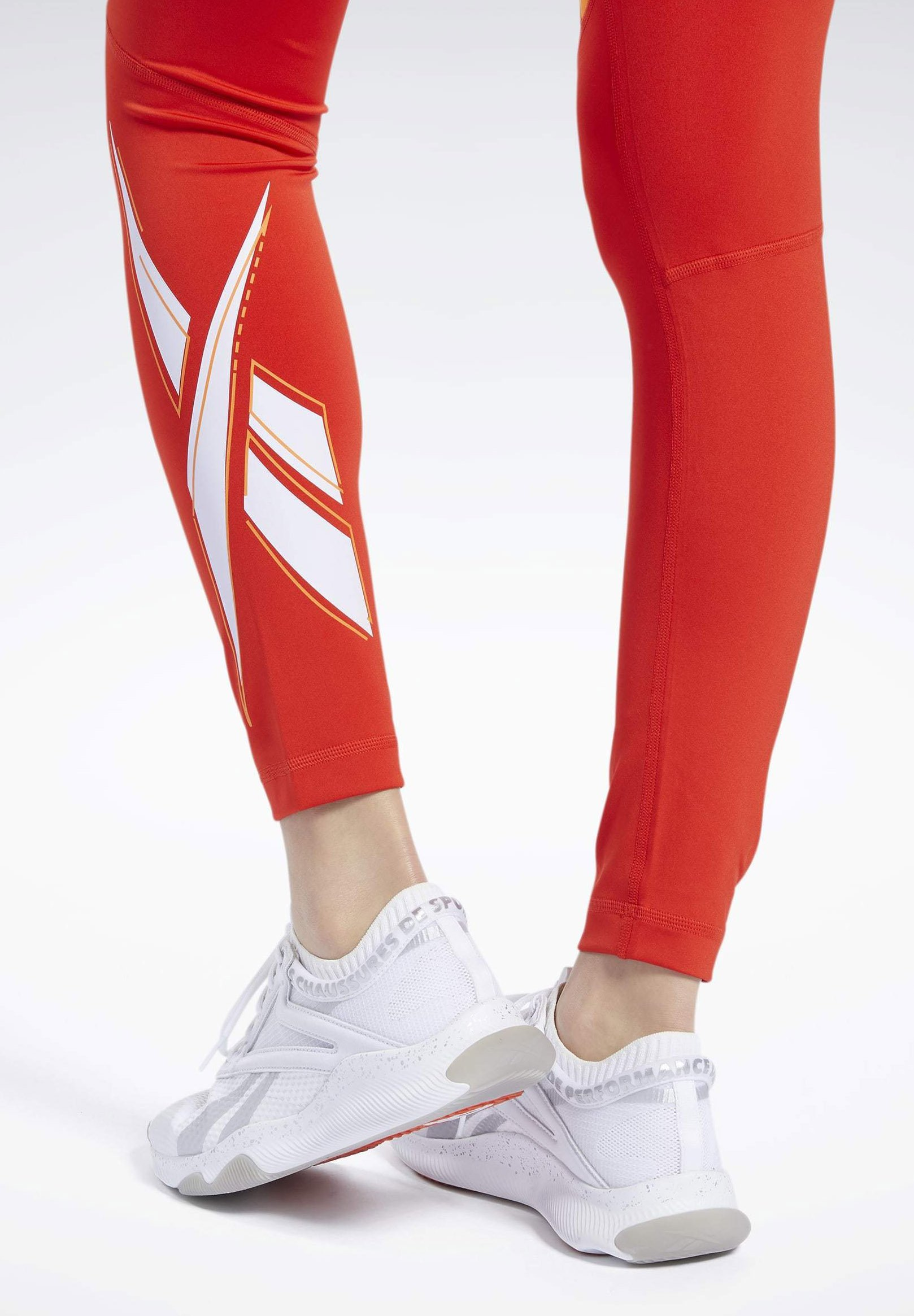 Reebok WORKOUT READY VECTOR LEGGINGS Tights red