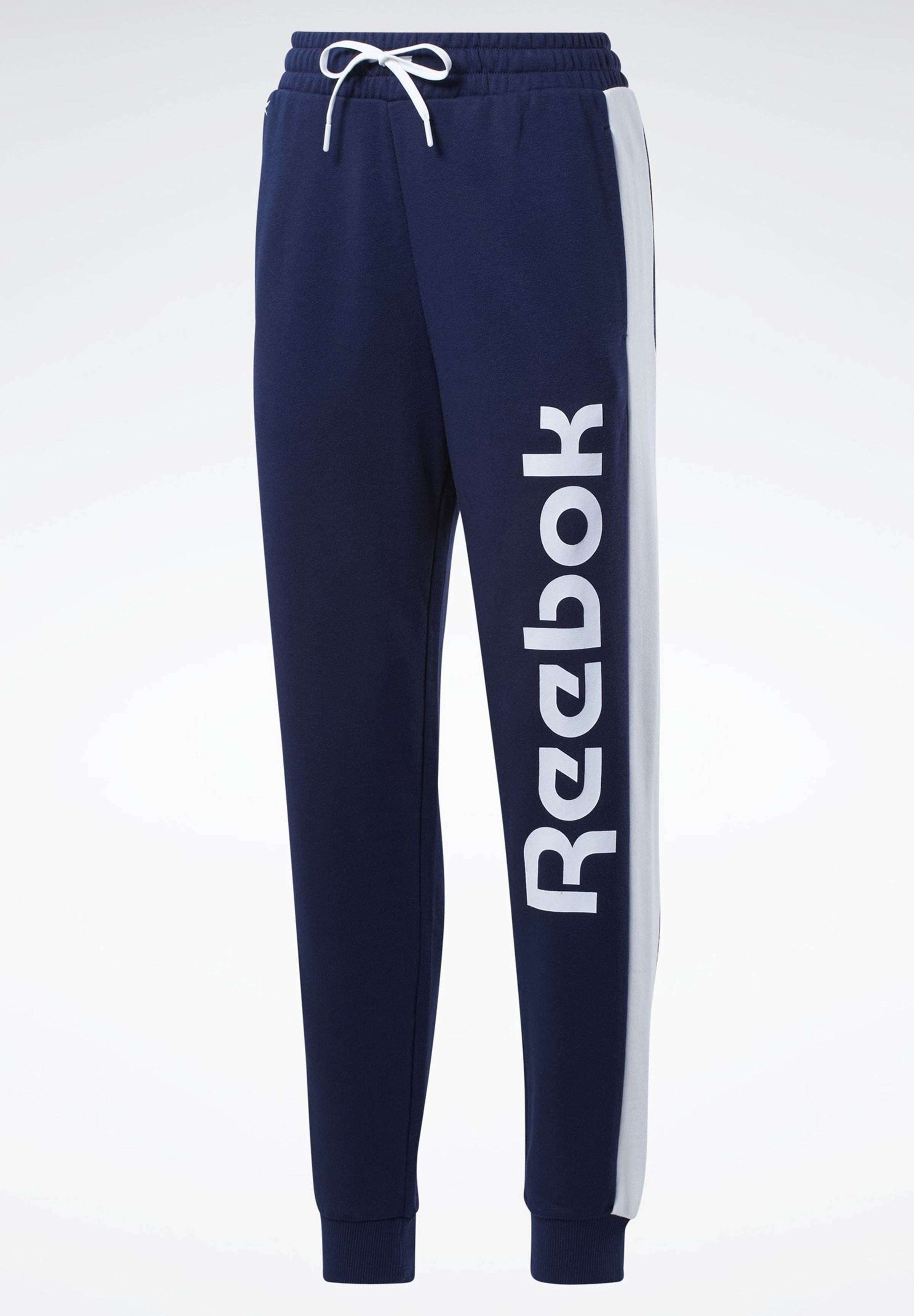 TRAINING ESSENTIALS LINEAR LOGO JOGGERS Joggebukse blue