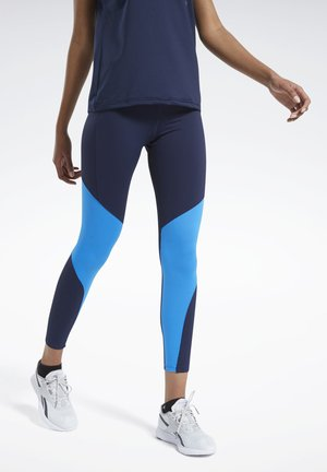 REEBOK LUX BOLD MESH 2 LEGGINGS - Tights - blue