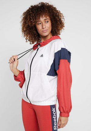 TRAINING ESSENTIALS LINEAR LOGO - Windbreaker - white
